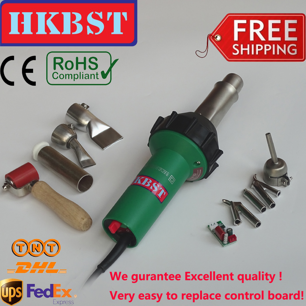 Hot sale HKBST brand - 110V / 230V 1600W Hot Air Welding Tools, Hot Air Welder, Heat Gun ,plastic wedlder gun,vinly welding gun new 110v 230v 1600w hot air welding gun torch for pp pe pvc viny plastic welder pistol with 5mm nozzle and heating element