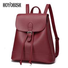 Hoyobish Для женщин рюкзак высокое качество из искусственной кожи Школьные сумки для девочек-подростков рюкзак для школы женский школьный SAC DOS OH001