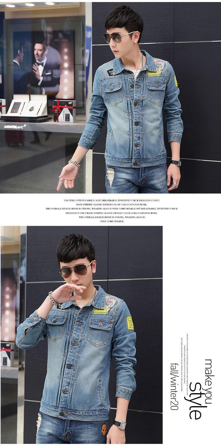 Men's Denim Jacket high quality fashion Jeans Jackets Slim fit casual streetwear Vintage Mens jean clothing Plus Size M-5XL (8)