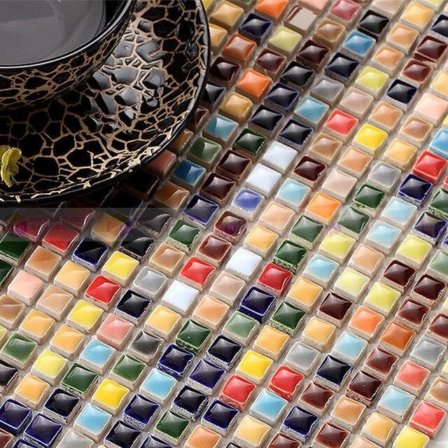 Haus Verzieren Küche Backsplash Wand Mosaik Fliesen Wandaufkleber  Mischfarbe Keramik Mosaik Bad Fliesen Wohnzimmer
