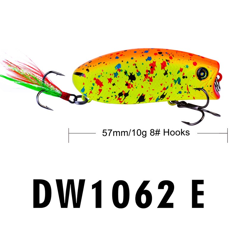 Image 3 - 1PCS mini popper lure 5.7CM 10G  lures trout ultralight fishing lure topwater bait finesse Crankbait Wobbler Minnow  Isca Poper-in Fishing Lures from Sports & Entertainment