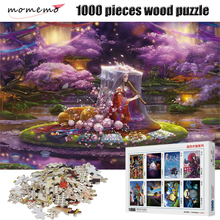 MOMEMO Sakura Festival Jigsaw Puzzle 1000 Pieces Wooden Adult Entertainment Puzzle Toys Assembling Children's Toys Puzzle Game momemo the cat and night sky pattern puzzle 1000 pieces wooden adult entertainment puzzle 1000 pieces puzzle assembling game