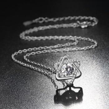 Ryoumignon cristal David Star 925 colliers en argent Sterling pour les femmes cadeau Boho bijoux déclaration de mode Long collier en pierre 2019 2