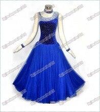 Free Shipping adult lady hot ballroom dance dress lunba dance costume tango and the waltz dress B-0410
