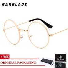 f79f0ba420bfc Ouro rodada limpar vidros do olho óculos de armação mulheres homens óculos  redondos transparentes moda lerdo oculos miopia óptic.