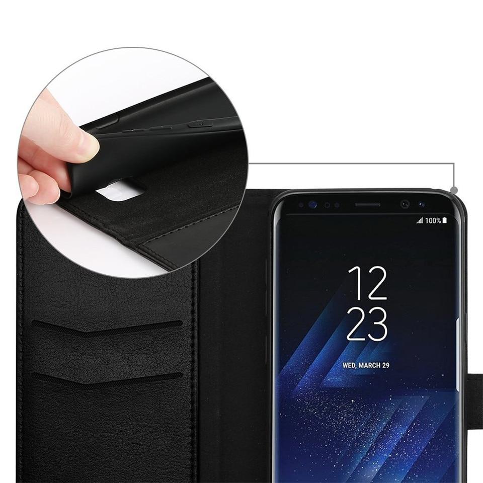 Samsung S8 Case շքեղ կաշվե դրամապանակի - Բջջային հեռախոսի պարագաներ և պահեստամասեր - Լուսանկար 4