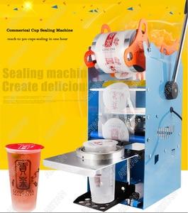 Image 2 - WY802F manuel bardak yapıştırma makinesi plastik veya kağıt kabarcık çay bardağı mühürleyen 220V 110V