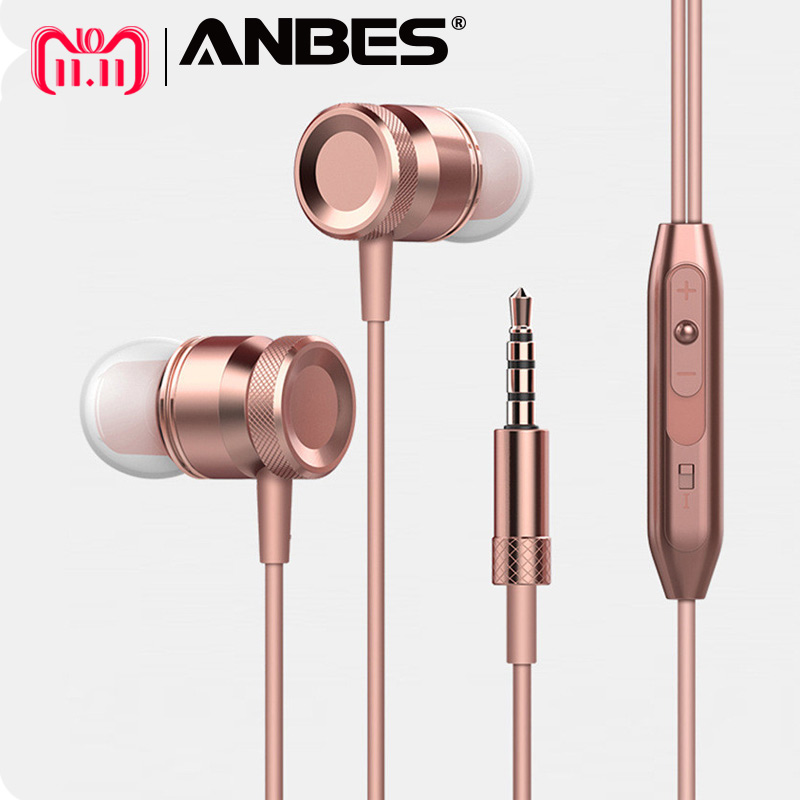 ANBES Sport Headphones Super Bass Stereo Earphone Hands-Free Headset with Mic for All Phone Computer PC Xiaomi fone de ouvido