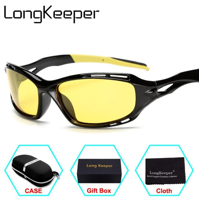 d39eaebc74511 LongKeeper New Night Vision lunettes de Soleil Hommes Marque Designer De  Mode Polarisées Conduite de Lumière