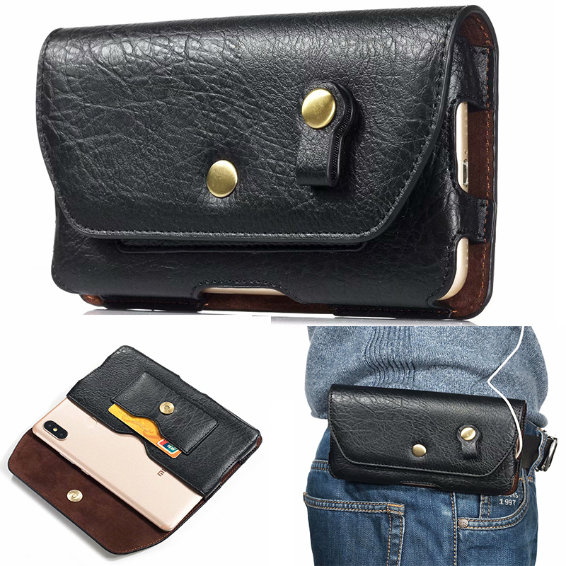 Leather Waist Bag Clip Belt Pouch <font><b>Case</b></font> For Ulefone Power 5 5s Armor X2 X3 <font><b>X5</b></font> 6S 3 3T 6 6E 7 <font><b>DOOGEE</b></font> S40 S70 S90 S60 S80 Lite Pro image