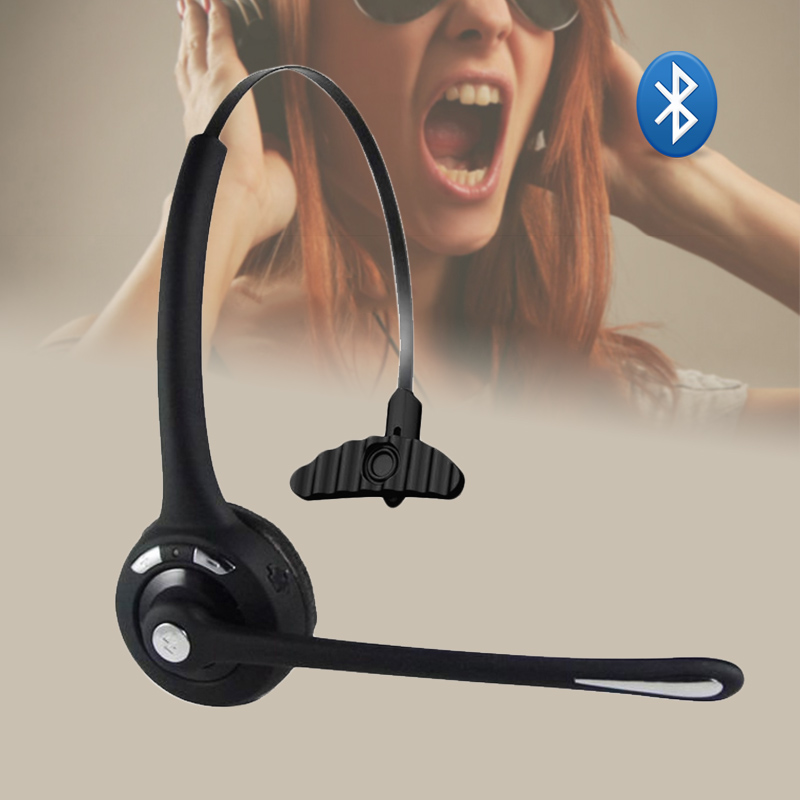 Wireless Headset with Boom Microphone Noise Cancelling Multipoint Headphones Hands Free GDeals