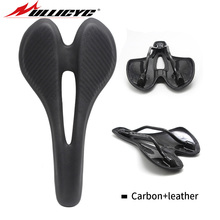 Ullicyc HOT SALE Full Carbon Mountain Bike Mtb Leather Saddle OR Road Bicycle Accessories  Good Quality Parts