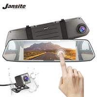 Jansite 7inch Mirror Car DVR Dual Lens Video Recorder Touch Screen Full HD 1080P Car Cameras G sensor Dash Cam Parking Monitor