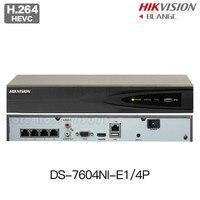 In Stock Hikvision DS 7604NI E1 4P Original English NVR P2P 4CH 4POE VGA HDMI H264