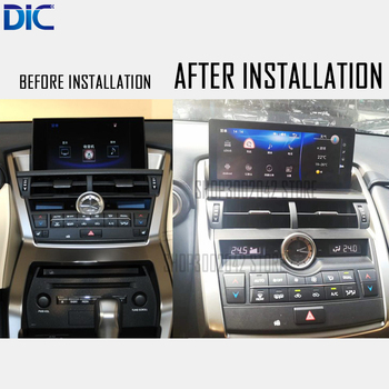 DLC Android system 10.25 inch Navigation player Video autoradio Steering-Wheel bluetooth USB For lexus 2014-2017 NX200 NX300 image