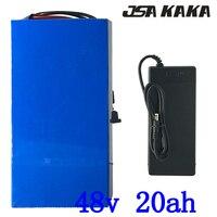 무료 세금 높은 전력 2000W 48 V 20AH 전기 자전거 배터리 48 V 20AH Ebike 배터리 48 볼트 리튬 배터리 50A BMS + 5A 충전기