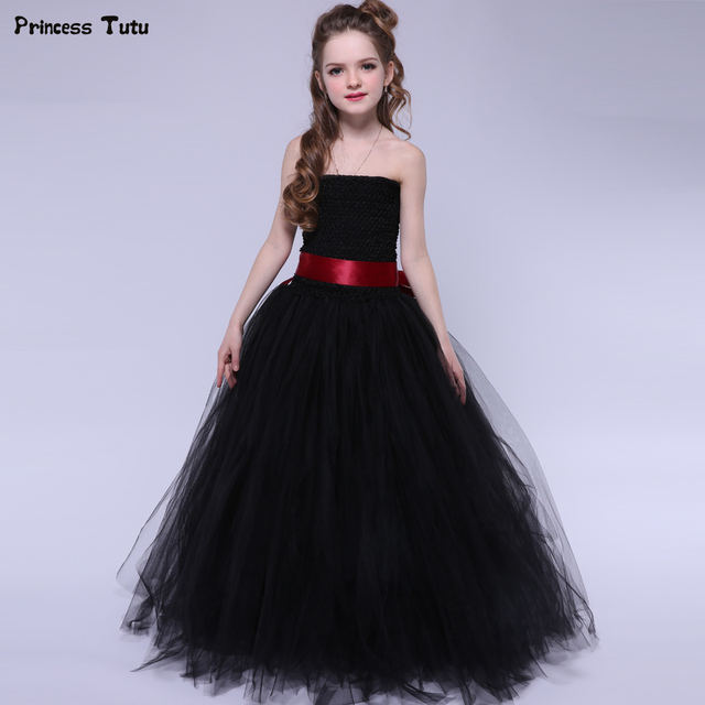 Matrimonio In Nero : Nero tutu delle ragazze del vestito elegante principessa tulle