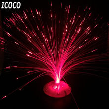 ICOCO Romantic Color Changing LED Fiber Optic Nightlight Battery Powered Christmas Lamp for Party Home Decoration(China)