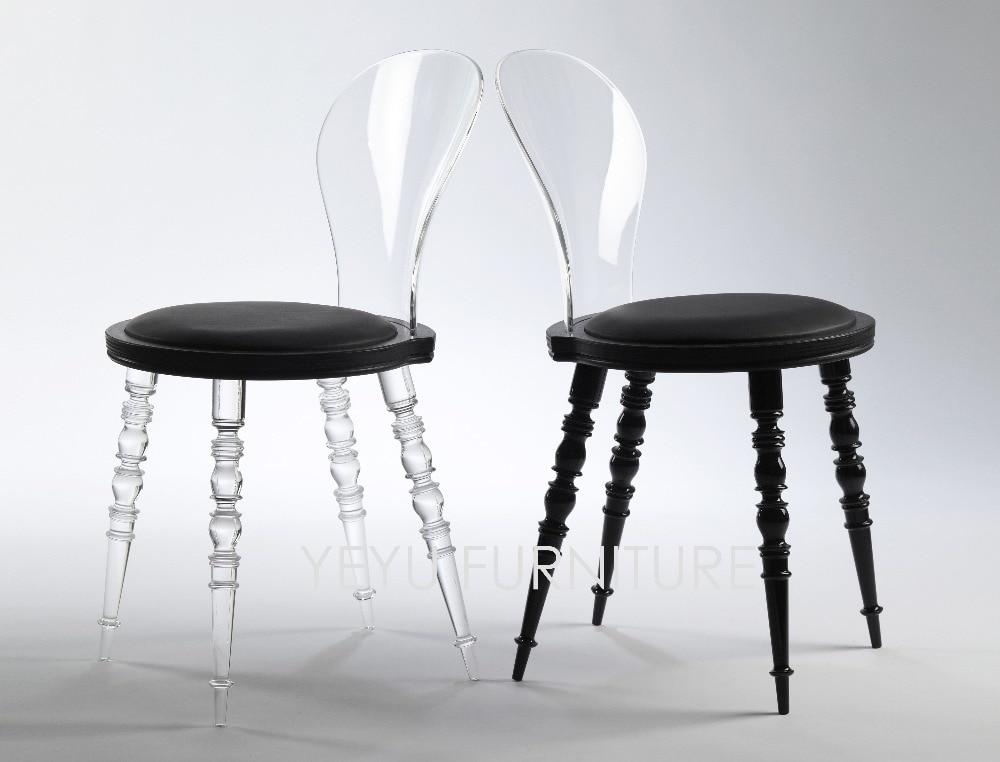 cheap loft furniture. minimalist modern design transparent clear padded dining chair fashion living room leisure furniture caft loft cheap e