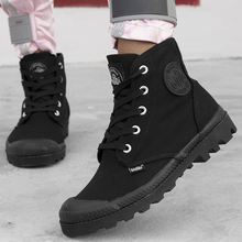 Work Casual Breathable Sneakers  Ankle Boots Lace Up Canvas Men Casual Shoes FM207