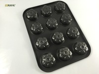1PC Non Stick Large Size 12 Cups Iron Flower Shape Cupcake Baking Tray Mini Metal Muffin