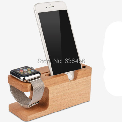 Wood Charging  Dock Station Charger Stand Holer for Apple Watch iWatch iPhone 6 6 Plus (1)