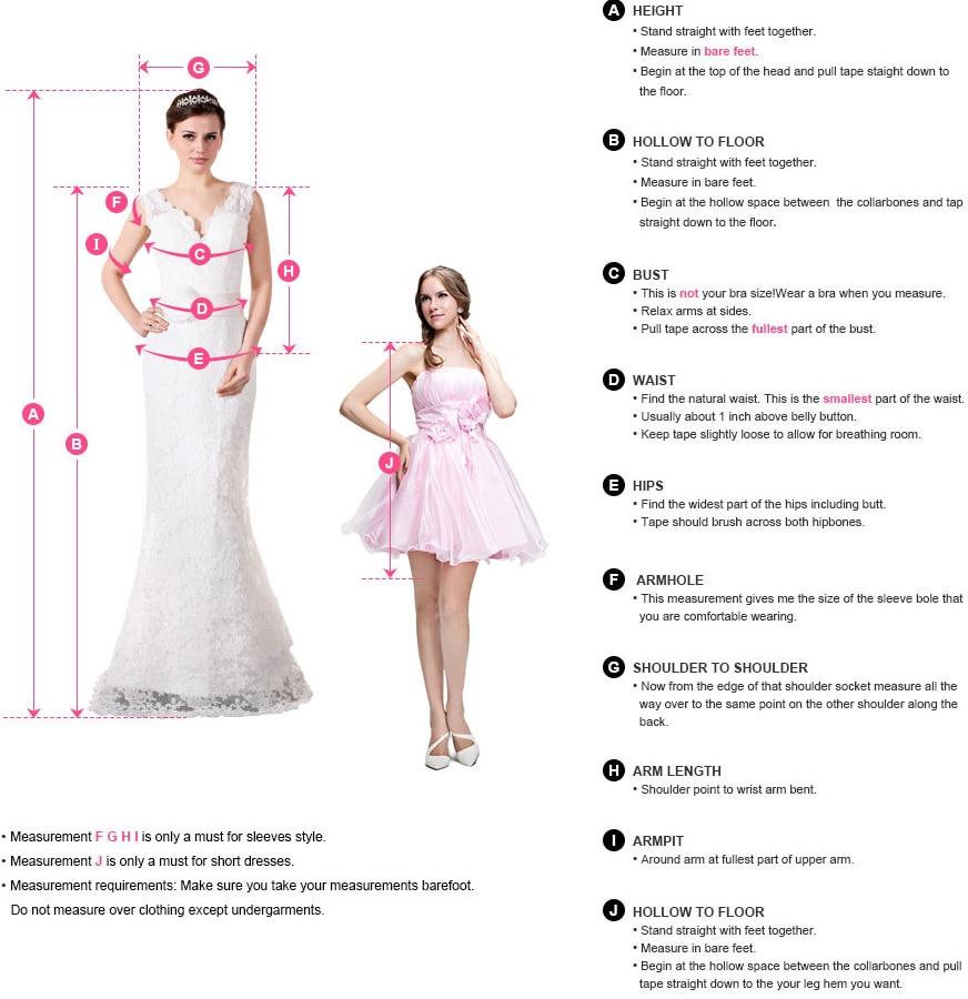 婚纱测量图