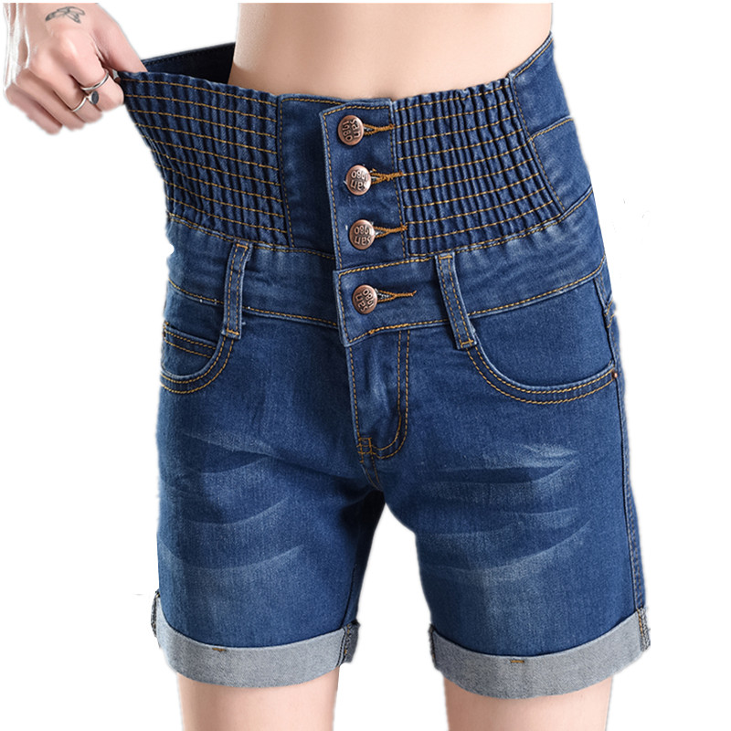 B2645 summer 2020 New women fashion big size high-waisted denim shorts cheap wholesale