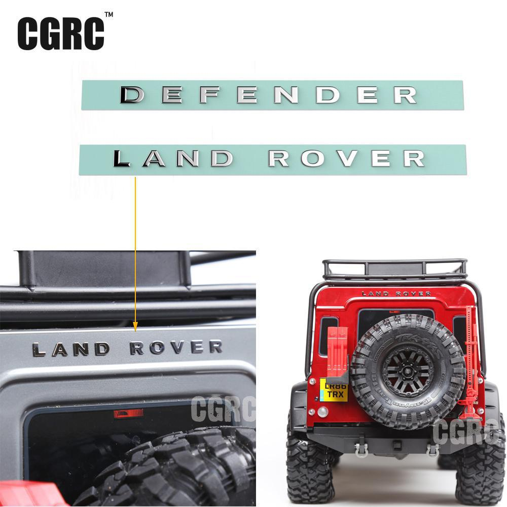 Traxxas Trx-4 TRX4 Rover RC4WD D90 D110 LAND ROVER DEFENDER Metal Logo Label Sticker ...