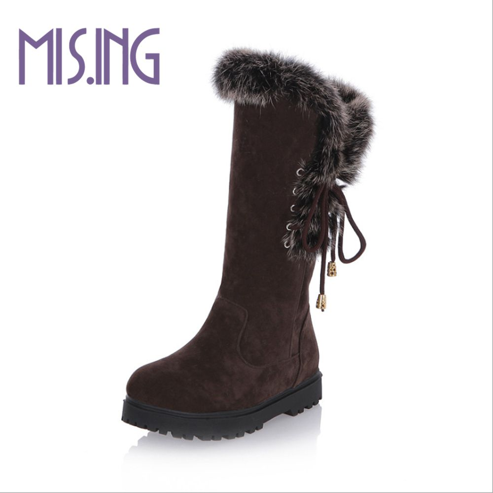 ФОТО Fashion women boots Lace-Up flat shoes Nubuck Leather winter snow boots Solid Round Toe Knee-High women shoes Knight boots