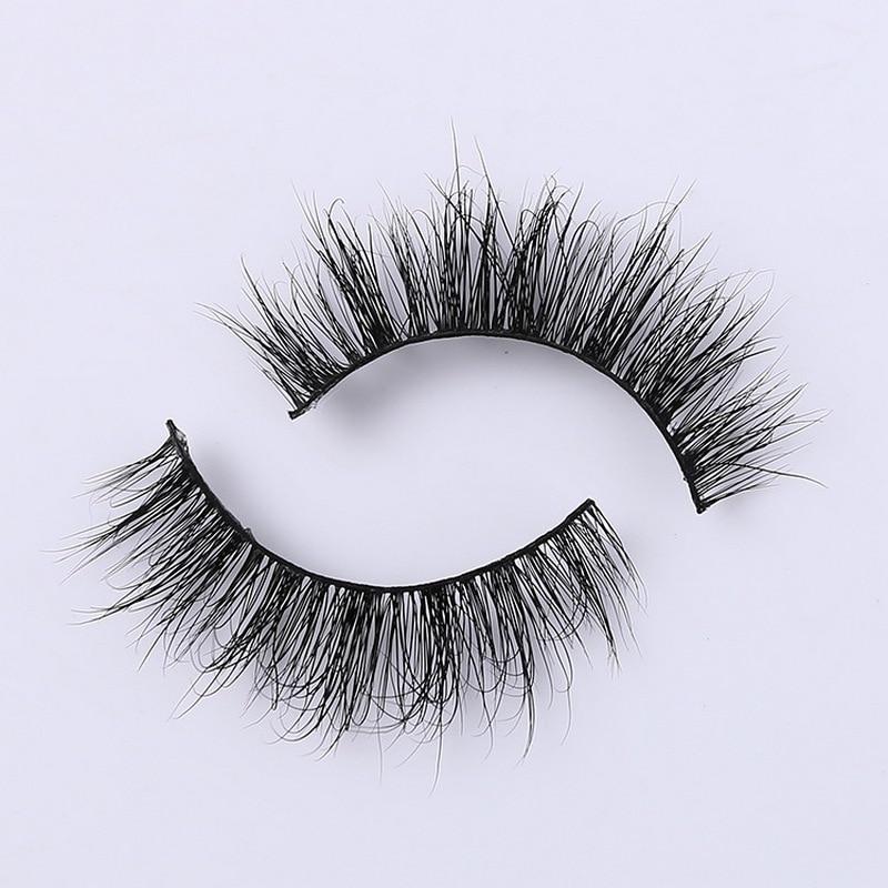 Image 5 - 3D Mink Eyelash Real Mink Handmade Crossing Lashes Individual Strip Thick Lash Fake Eyelashes A02-in False Eyelashes from Beauty & Health