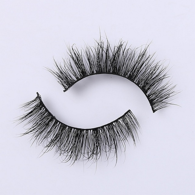3D Mink Eyelash Real Mink Handmade Crossing Lashes Individual Strip Thick Lash Fake Eyelashes A02 4