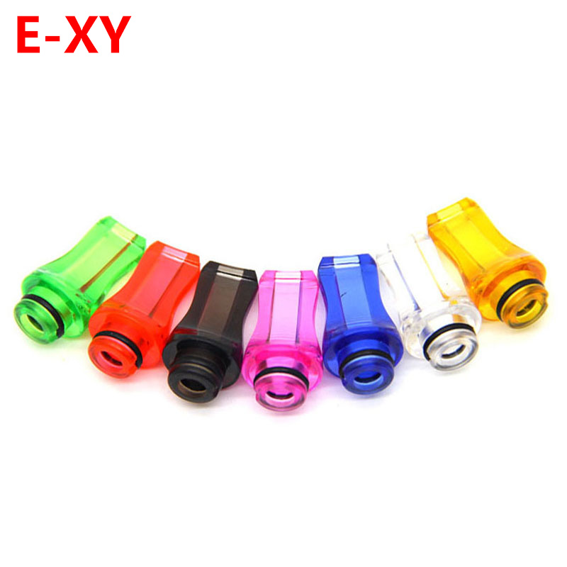 E-XY 510 Plastic Drip Tips Flat Style Drip Tip mouthpieces for 510 atomizer E Cigarette Acrylic Drip Tips colorful Mouth тоник llang red ginseng damage care hair mist 150 мл