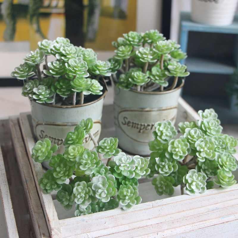 1 sztuk Mini kaktus krajobraz bonsai sztuczna mięsista roślina kaktus kwiaty ozdobne dla wystrój stołu sukulenty rośliny