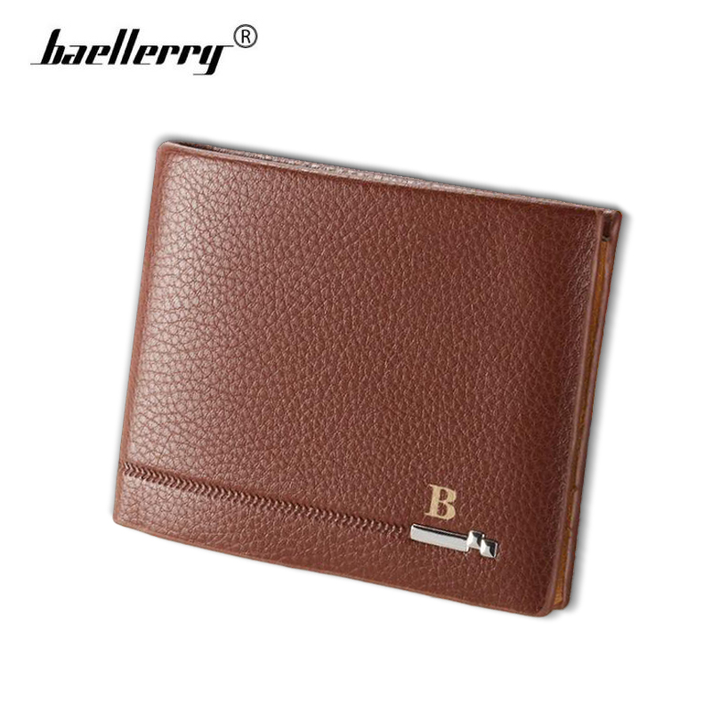 Baellerry High Quality Leather Men Wallets Multi-functional Male Purse with Driver License Holder Men's Small dollar bill Wallet фен braun satin hair 7 hd730