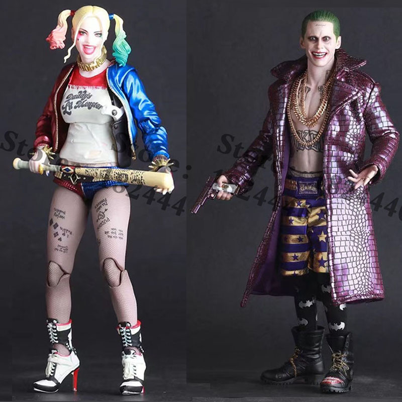 Crazy Toys Movie Suicide Squad Harley Quinn Figure Batman Begins Arkham PVC Action Figures Super Heroes Collection Model Toy 35 free shipping super big size 12 super mario with star action figure display collection model toy