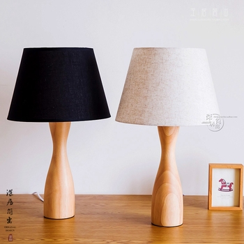 Nordic simple iron wood table lamp modern countryside desk lamp LED E27 with 4 colors for study bedroom parlor bookstore hotel