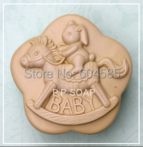 Baby with horse Craft Art Silicone Soap mold Craft Molds DIY Handmade soap molds