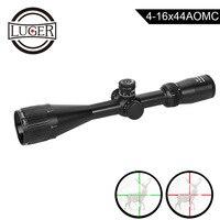 LUGER 4-16x44AOMC Riflescope красный зеленый Mildot охотничий оптический прицел Сфера воздуха винтовка пистолет тактический прицел