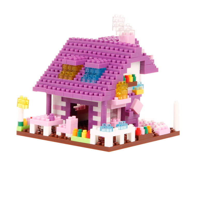 Djevojke Blok Pink Pink Plava Villa Princess Prijevoz Ljubičasta - Izgradnja igračke - Foto 3