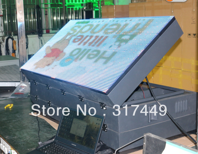 P10 Full Color  Double Side Outdoor Led Advertising Signs128cm X 64cm,50.4