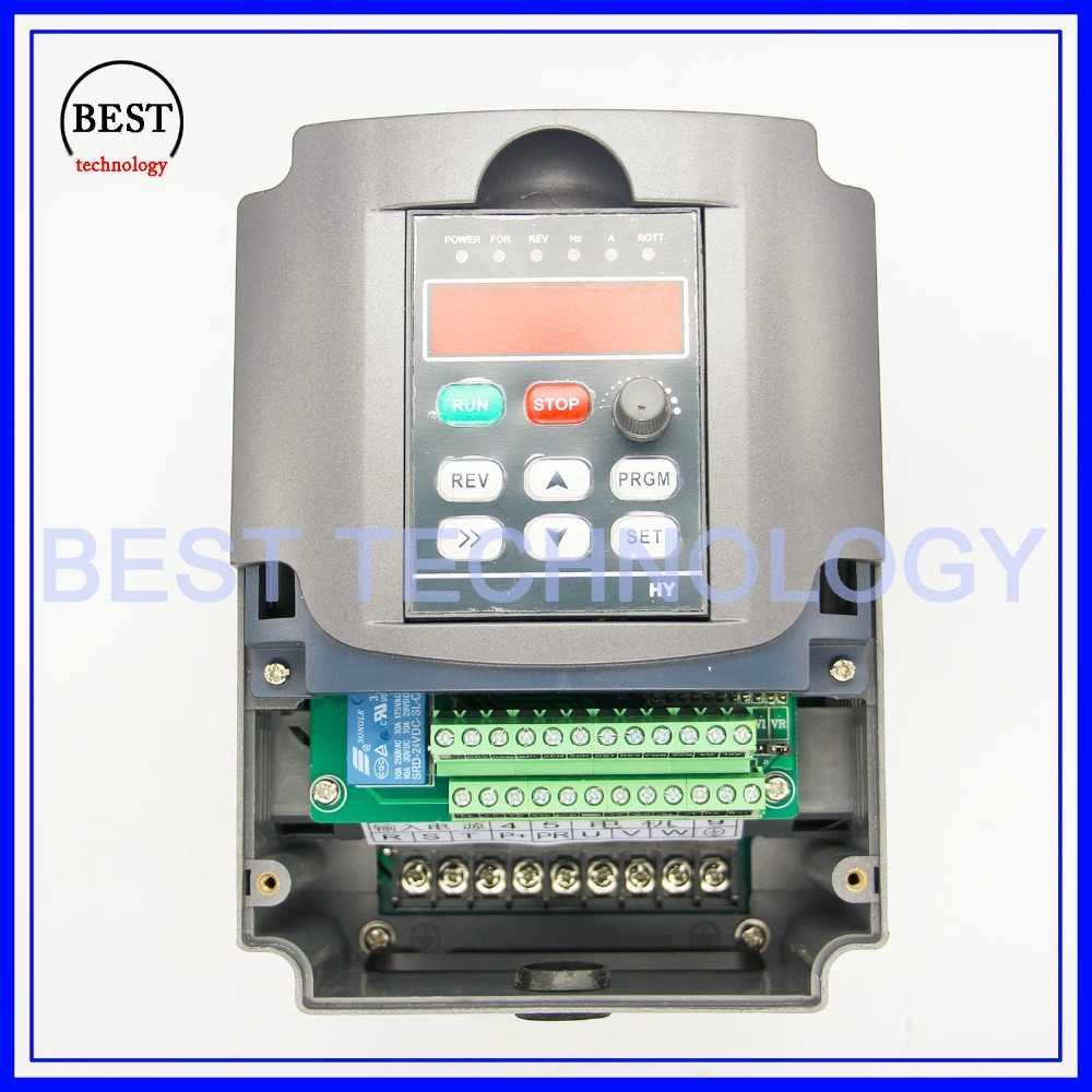 نك المغزل المحرك سرعة التحكم 220 فولت 2.2kw VFD محول تردد متغير VFD العاكس 1HP أو 3HP المدخلات 3HP تردد العاكس