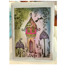 fairy house Transparent Clear Stamps for DIY Scrapbooking paper Card Making Kids Christmas Fun Decoration Supplies bird cage transparent clear silicone stamps for diy scrapbooking card making kids fun decoration supply