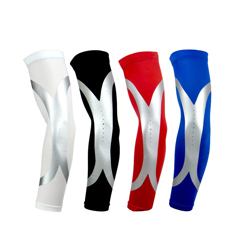 1pc High Elastic Quick Dry Sport Elbow Arm Warmers Pad Long Arm Sleeve Support Basketball Black M Sports Safety Arm Warmers