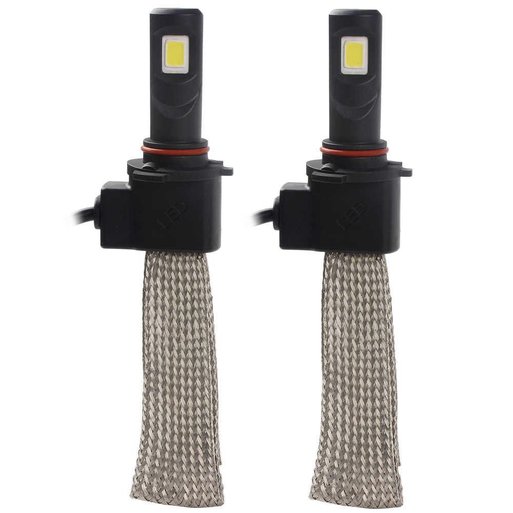 ФОТО 2pcs 9005 Car LED Headlight with Aluminum Alloy Belt Heat Dissipation 6000K 3200LM Conversion Kit Head Light Lamp Car-styling