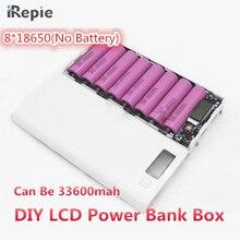 Универсальный 2A 8*18650 5X18650 ЖК-дисплей Dual USB Батарея Зарядное устройство комплект DIY 18650 коробка Мощность Bank пакет Чехол Зарядное устройство с фонариком телефон