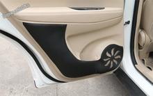 Lapetus Accessories For Nissan Rogue / X-Trail X Trail 2014 – 2018 Car Door Anti Kick Mat Pad Trim Protection Kit 4 Pcs / Set