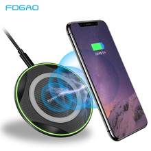 где купить FDGAO 10W Qi Wireless Charger For iPhone X Xs Max XR 8 Plus USB Fast Wireless Charger Pad For Samsung S10 S9 Xiaomi Mix 2s 3 дешево