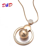 2018 Promotion Buda Reiki Chakra Metal Women Necklace Bell Pendant Long  Coat Chain New Border For dabb73d933a4