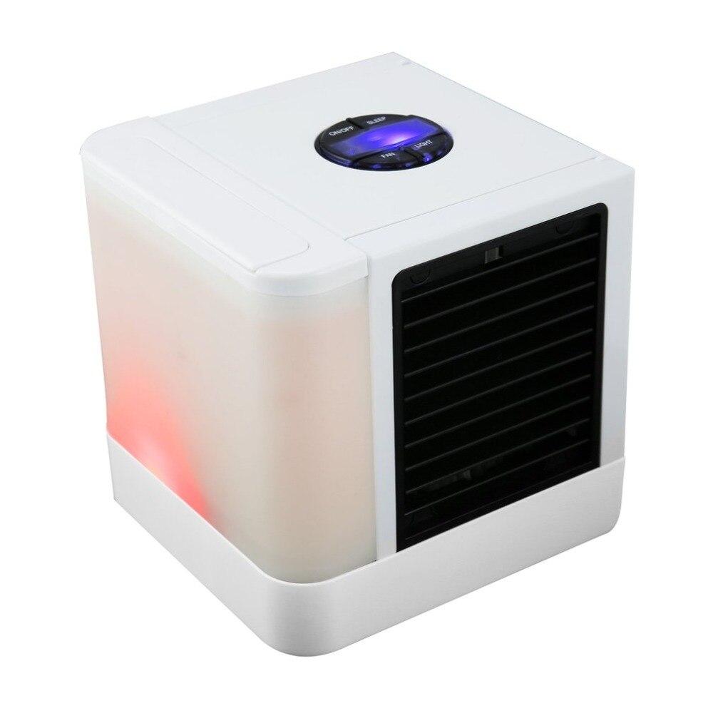 2019 USB Mini Portable Air Conditioner Humidifier Purifier 7 Colors Light Desktop Air Cooling Fan Air Cooler Fan for Office Home Картофель фри